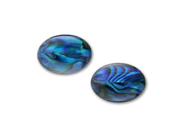 PRECIOSA VINTAGE CRESCENT CABOCHON COBALT BLUE 18 X 13MM JEWELLERY MAKING