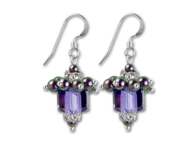 Swarovski Glitzy Glam Gift Earrings Kit - Artbeads Birthday Purple