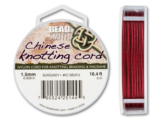 Beadsmith 1.5mm Chinese Knotting Cord 16.4-Feet Per Spool Purple