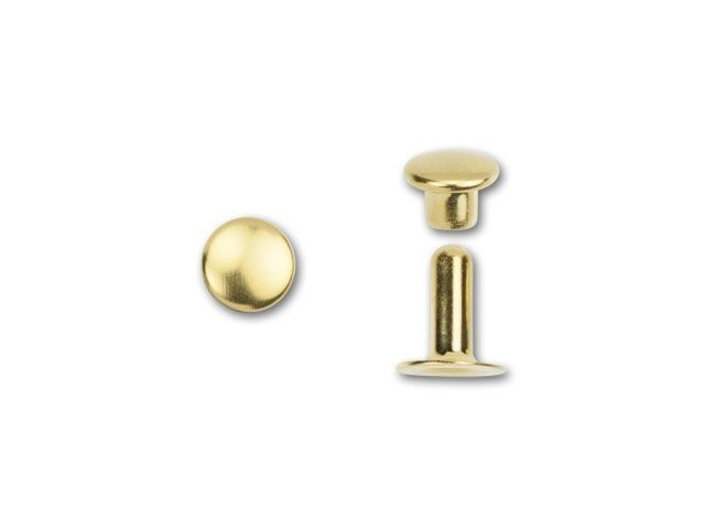 6mm Bright Gold TierraCast Rivet Set #CK204