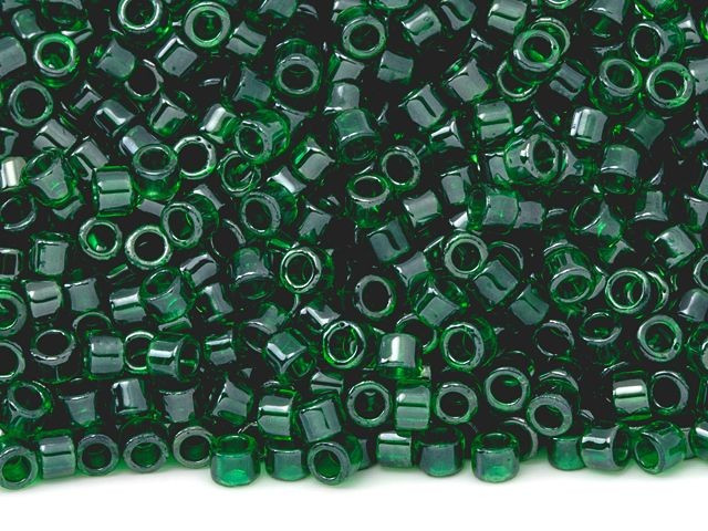 600 beads approx Size 11 2mm Silver Lined Green Emerald Toho Seed Beads #7295