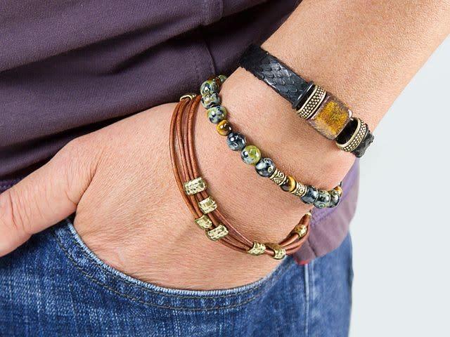 Adventure Python Leather Bracelet Urban Jewelry Kit