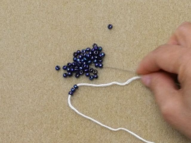 Pre-Stringing Beads on Yarn for Knitting and Crochet Video