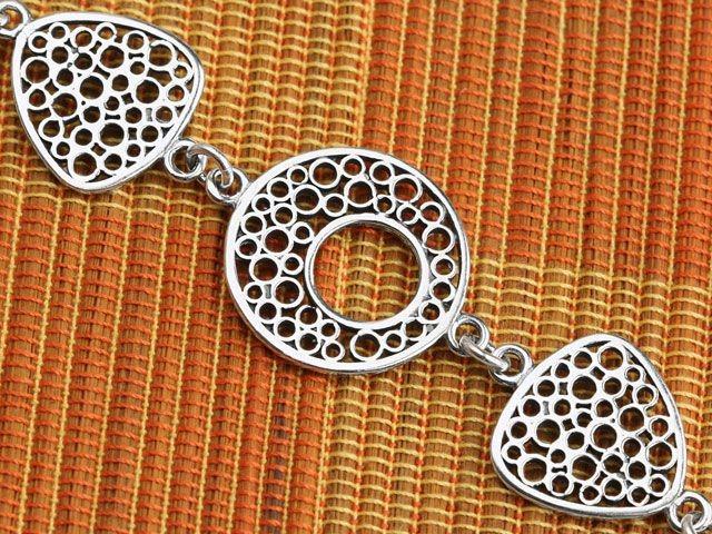 Silver Symmetry Bracelet