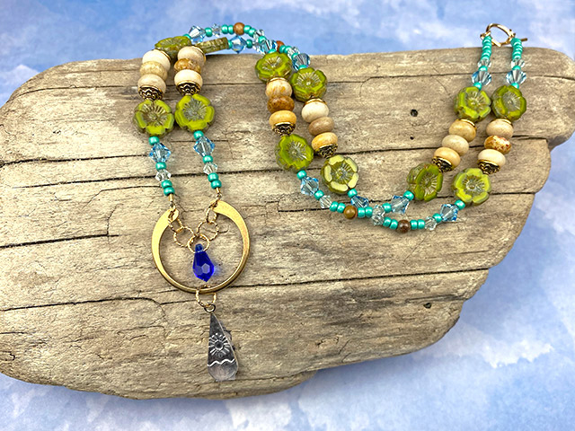 Mountains by the Sea Beaded Necklace