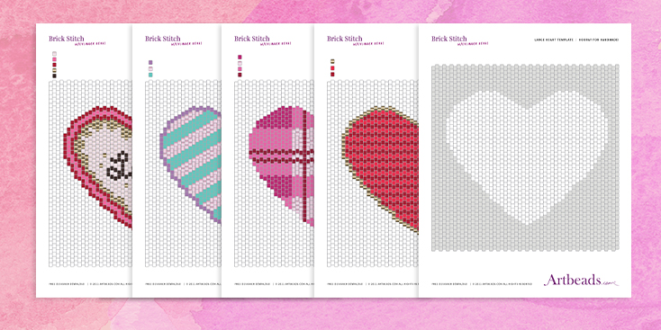Large Heart Templates for Spread the Love Stitch Along