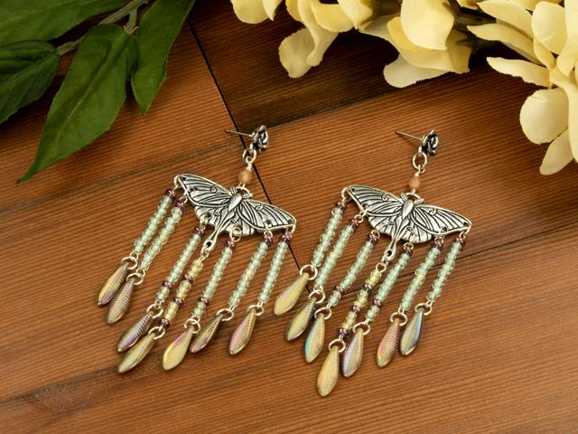 Flight of the Luna Moth Earrings