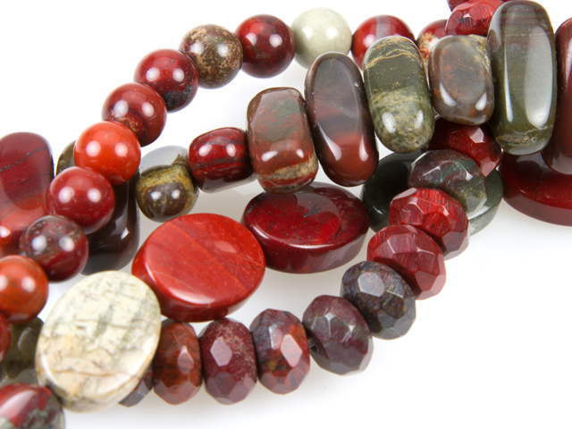 Image of apple jasper gemstones