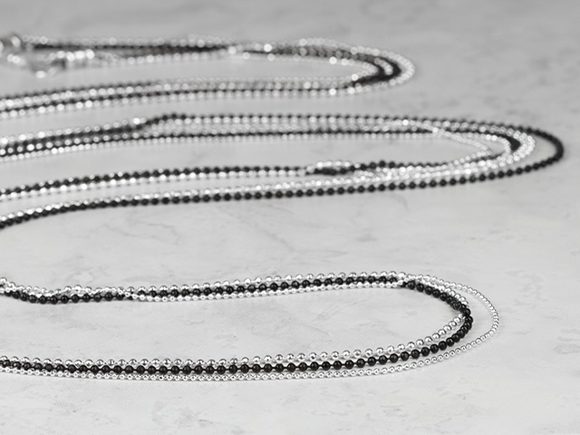 Image of Sabine necklace designs featuring ball chain