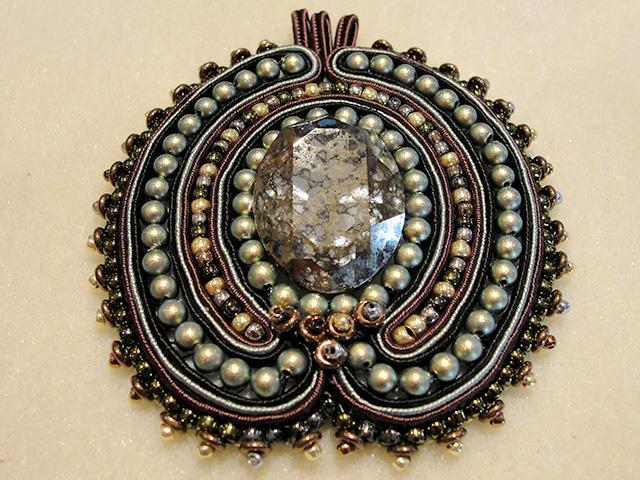 Image of a soutache pendant