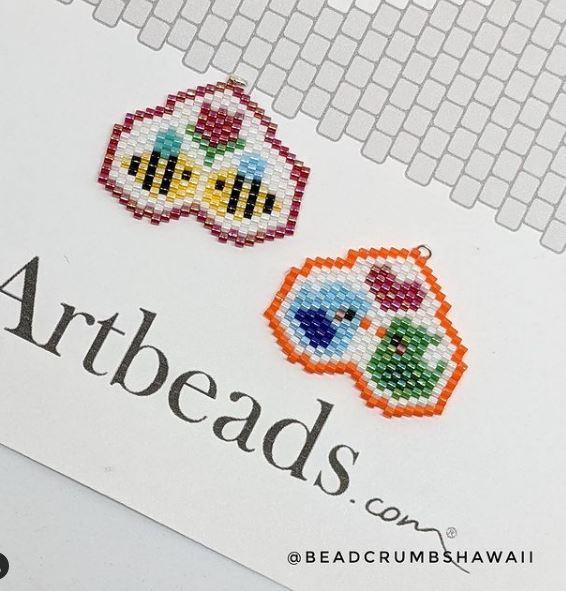 Heart designs by @beadcrumbshawaii on Instagram