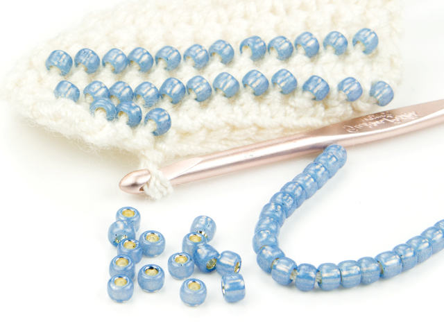 Image of crocheting with beads