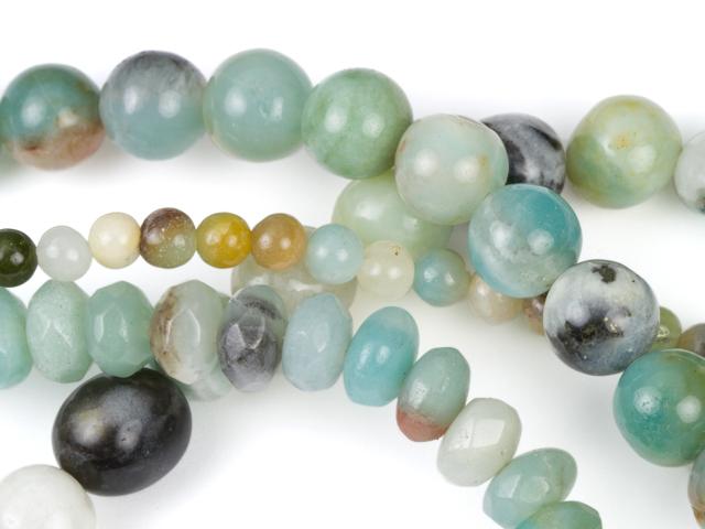 Image of black-gold amazonite gemstones