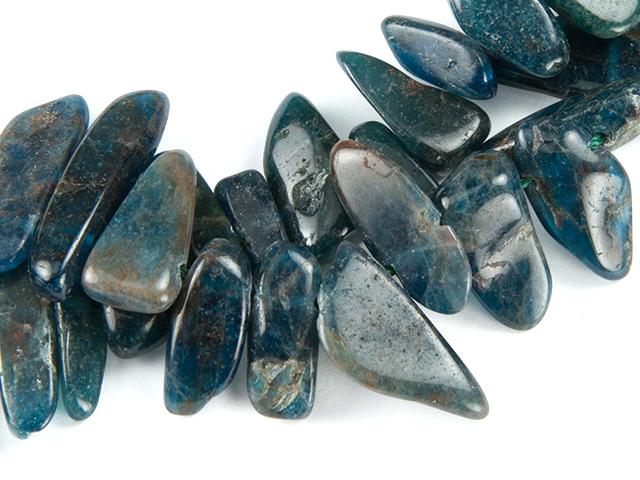 Image of blue apatite gemstones