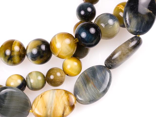 Image of blue-golden tiger eye gemstones