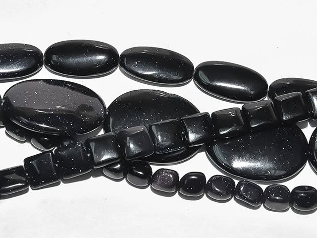 Image of blue goldstone gemstones
