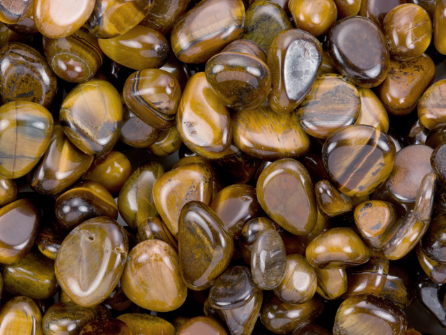 Image of brown tiger's eye gemstones