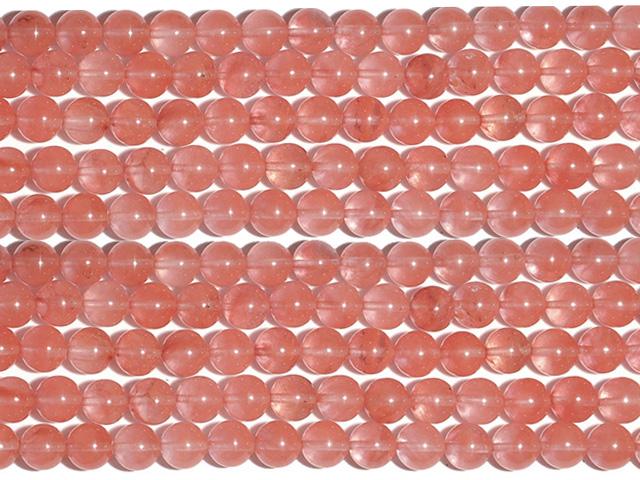 Image of cherry quartz gemstones