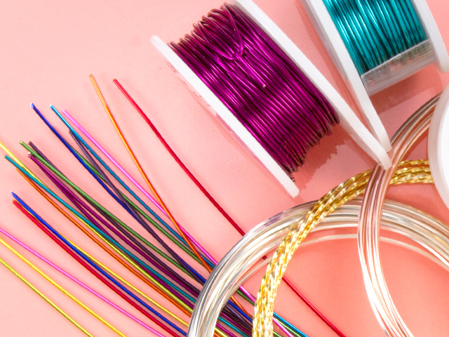Image of colorful craft wire