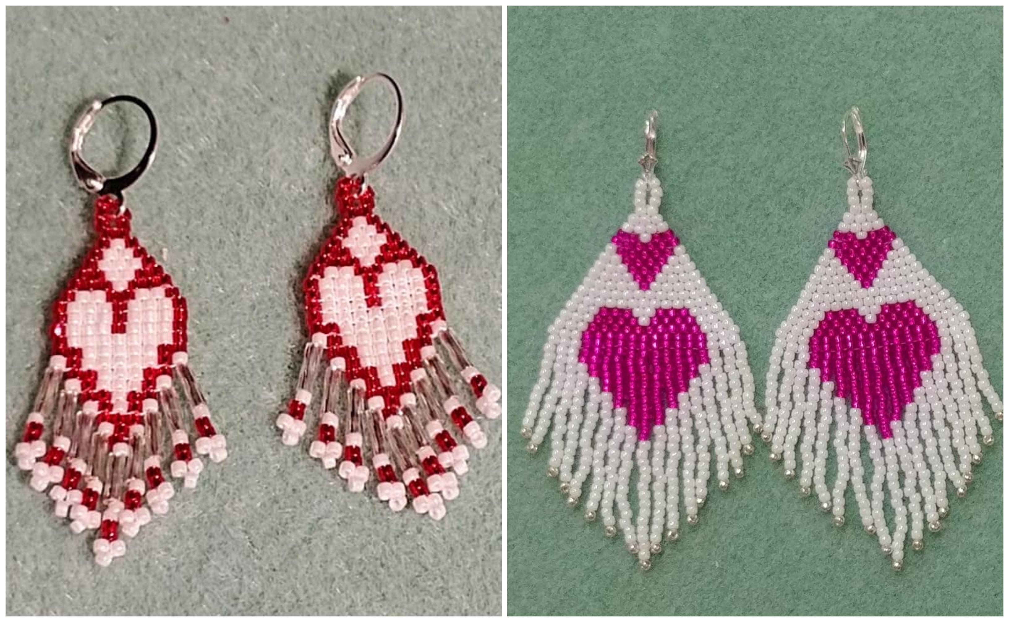 Heart earrings by Darlene Richardson Reddick