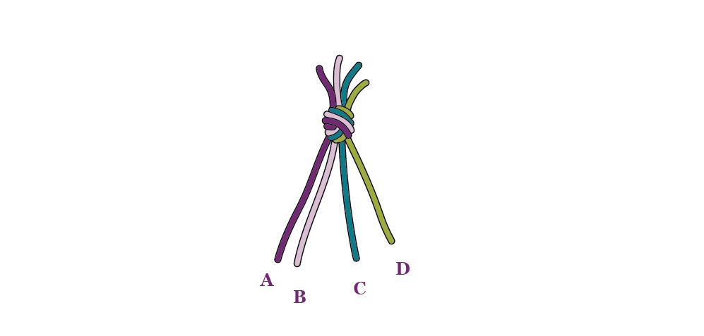 Diagonal Weave Step 1
