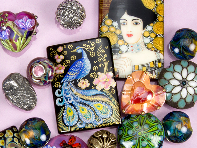 Image of Russian Artist Pendants and focal beads