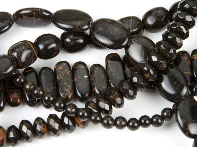 Image of gold snowflake obsidian gemstones