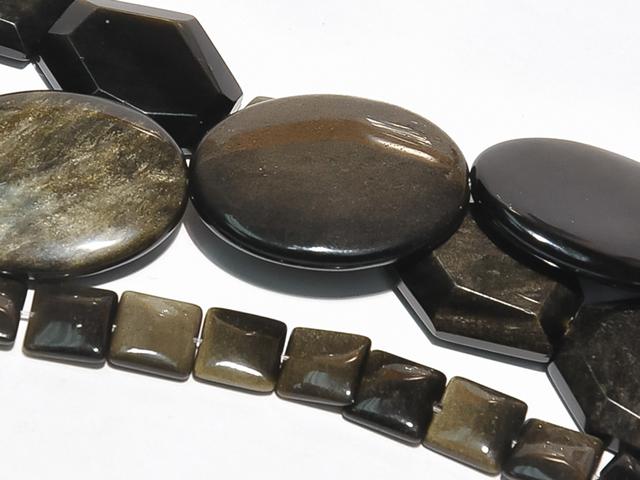 Image of golden obsidian gemstones