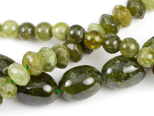 Image of green garnet gemstones