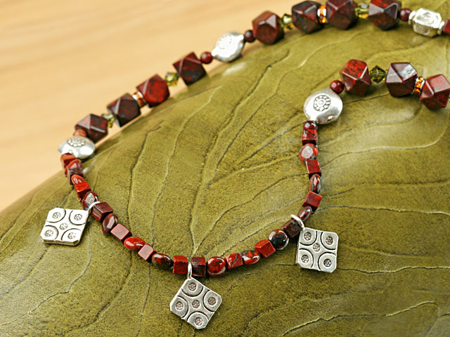 Image of the Hill Tribe Jasper necklace