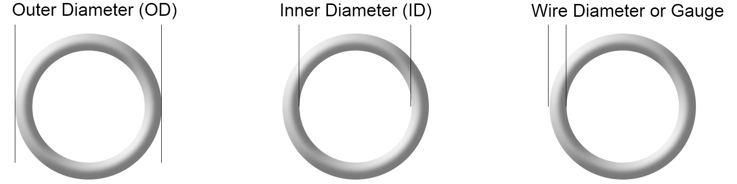 Jump Ring Measurements Diagram