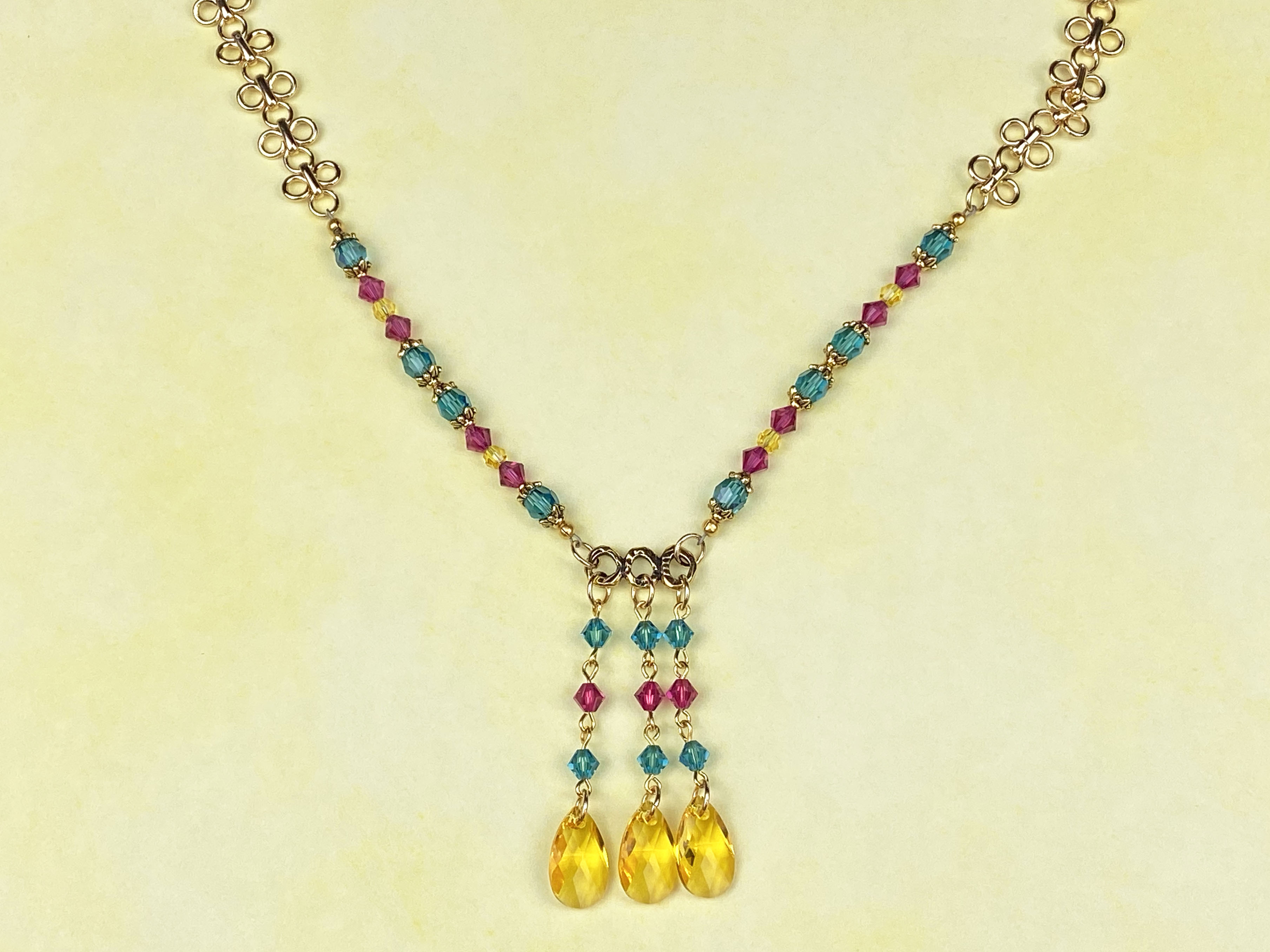 Festival of Colors Necklace with Swarovski crystals