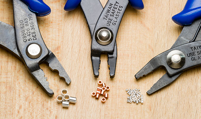 Image of crimp tubes and crimper tools