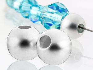 Lightweight Silver Beads