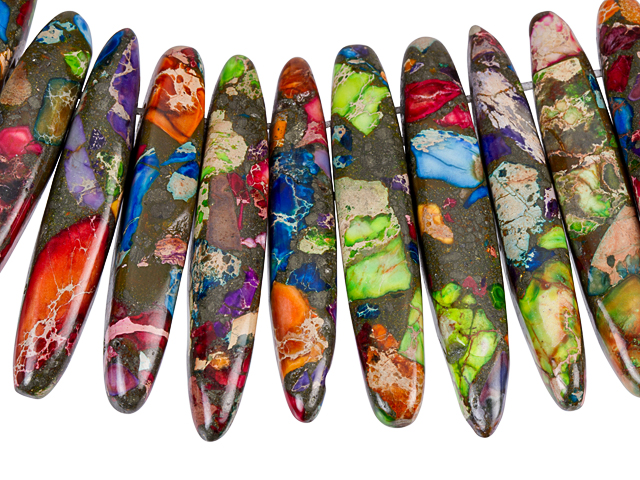 Image of mardi gras impression jasper gemstones