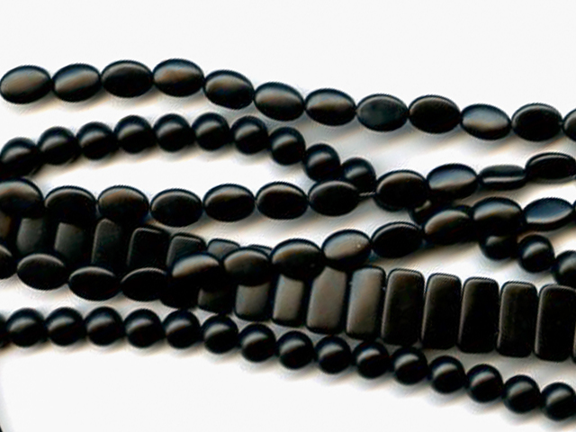 Image of matte onyx gemstones