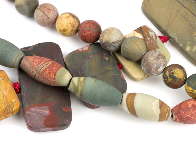 Image of matte red creek jasper gemstones