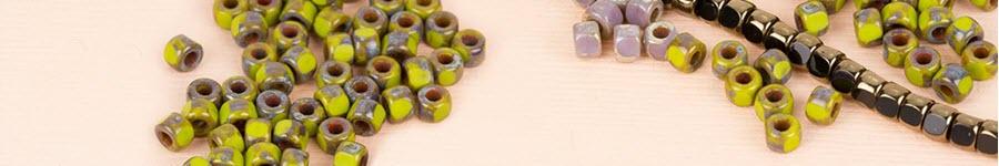 3-Cut Czech Glass Beads by Matubo