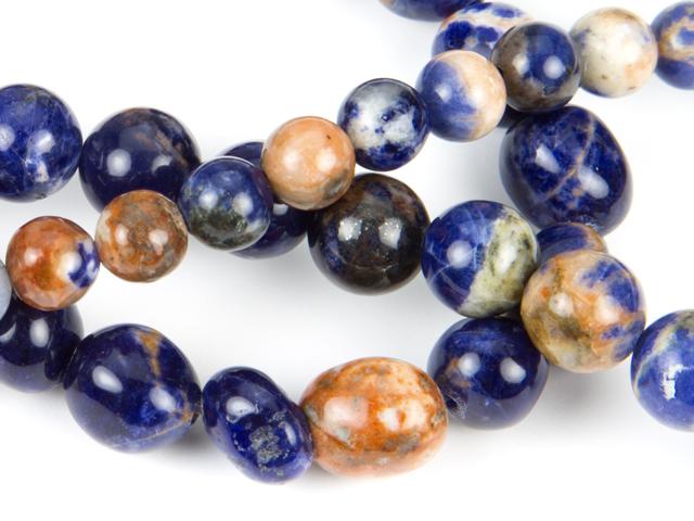 Image of orange sodalite gemstones