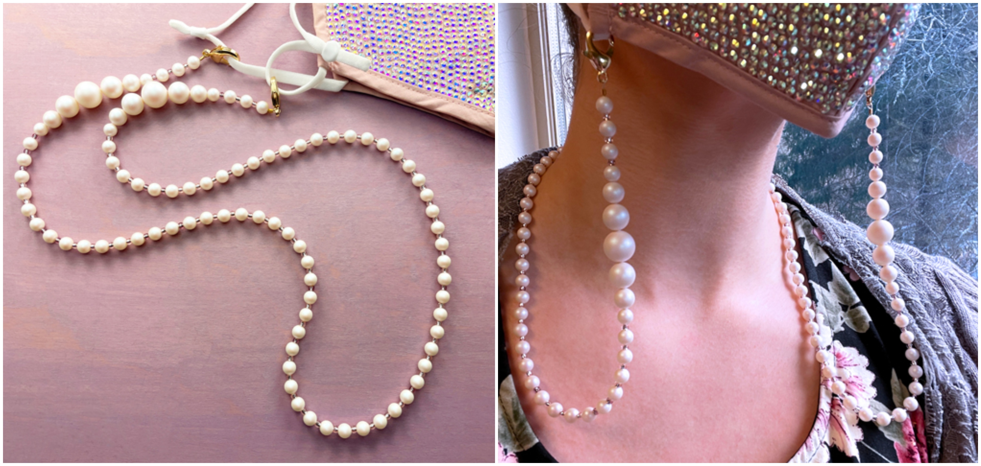Pearl Beaded Mask Chain