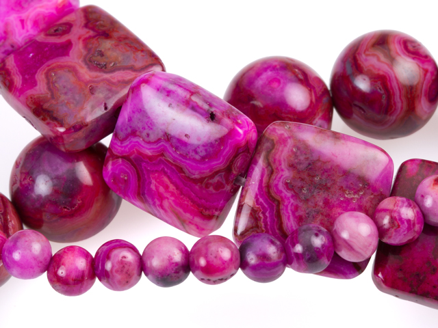 Image of pink crazy lace agate gemstones