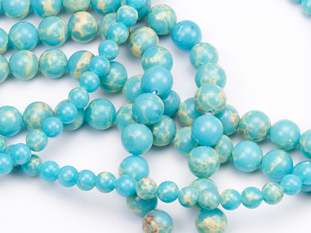Image of powder blue impression jasper gemstones