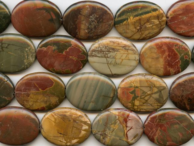 Image of red creek jasper gemstones