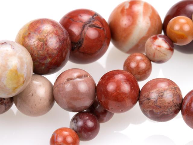 Image of red porcelain jasper gemstones