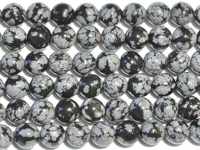 Image of snowflake obsidian gemstones