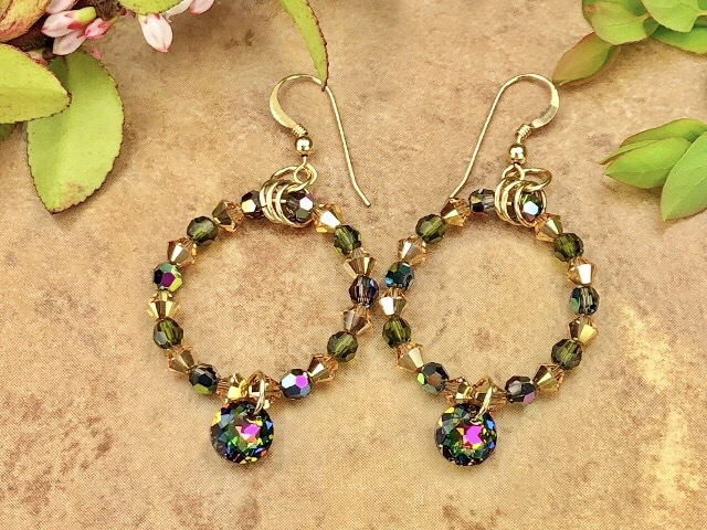 Midlands of Ireland Earrings with Swarovski crystals