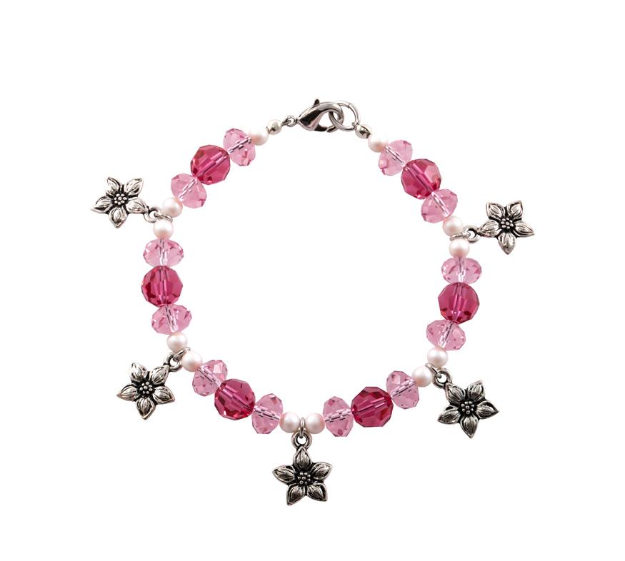Pretty in Pink Jasmine Bracelet