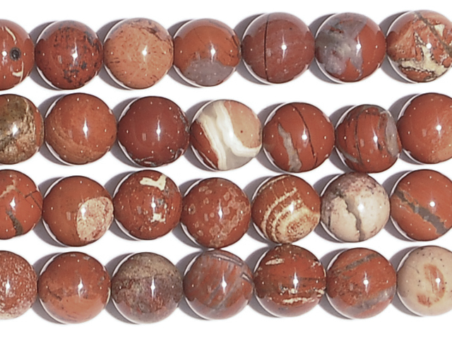 Image of white lace red jasper gemstones