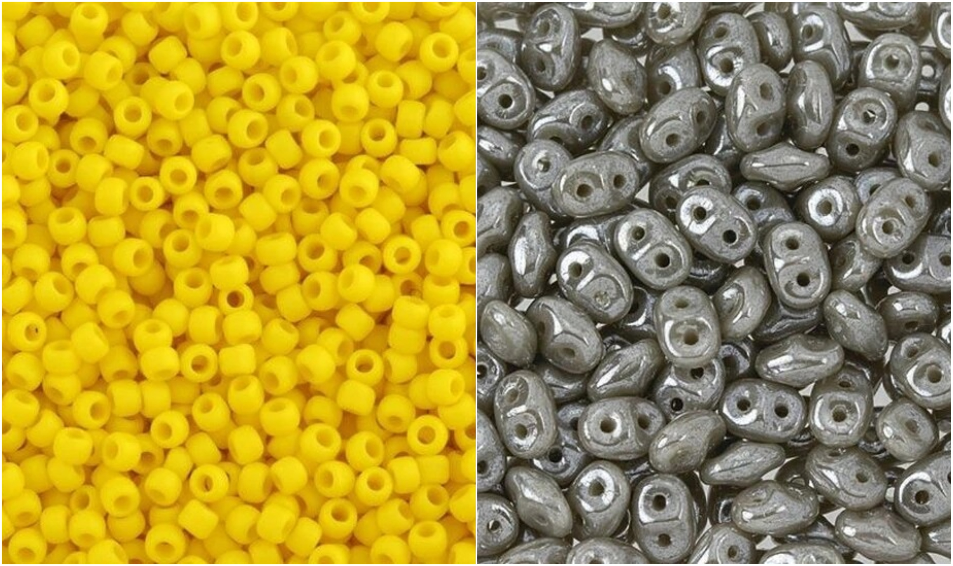 Yellow and Gray Bead Colors