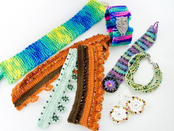 Colorful Crochet Jewelry